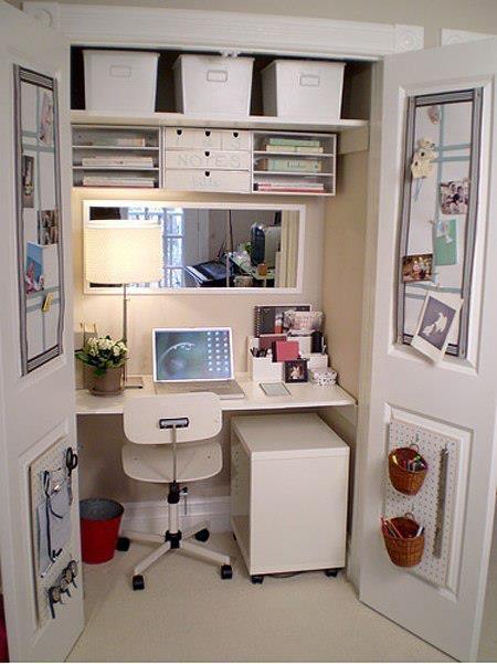 Un bureau compact