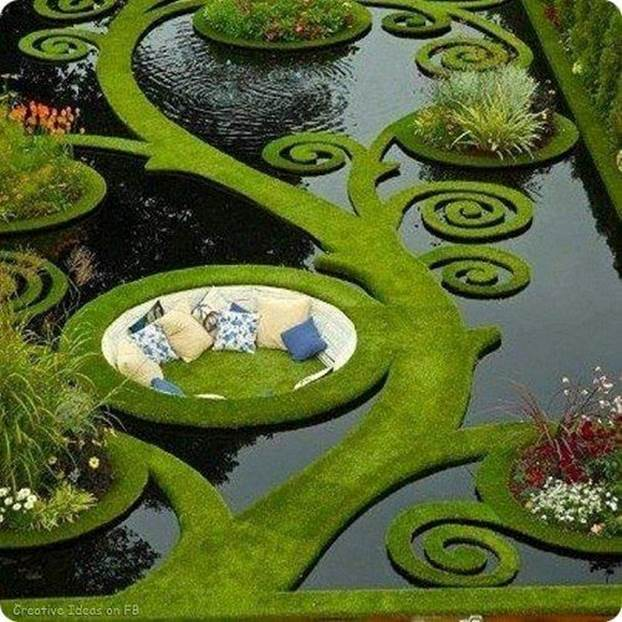 Parfait! Un étang de jardin unique