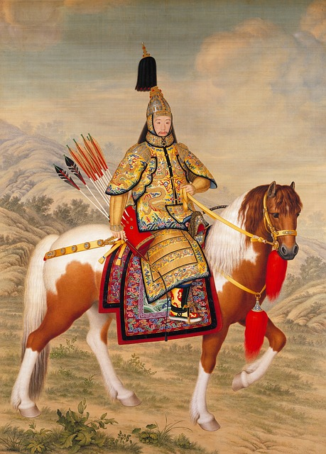 empereur chinois à cheval