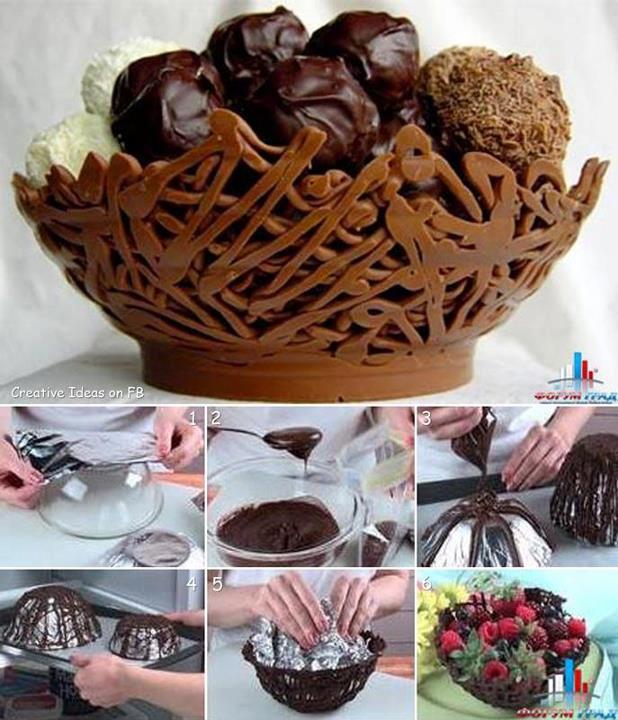 Saladier en chocolat - Serait-ce le summum de la pâtisserie artisanale ?