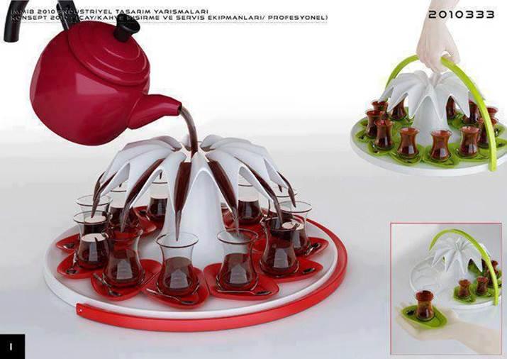 Quelle idée originale ! Une théière / cafetière moderne - Conçue par un studio de design turc Altera Tasarim. Site Web du produit : http://www.alteratasarim.com/asgallery.swf