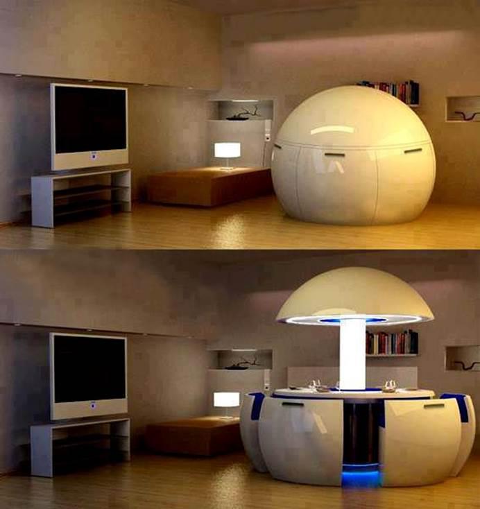 Très classe ! Une salle à manger design. La créativité humaine ne décline pas dans la décoration intérieure